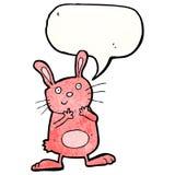 Cartoon pink rabbit Stock Photo