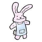 Cartoon pink rabbit Stock Images