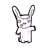 Cartoon pink rabbit Royalty Free Stock Image