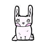 Cartoon pink rabbit Royalty Free Stock Photography