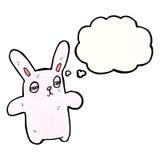 Cartoon pink rabbit Stock Photos