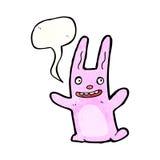Cartoon pink rabbit Stock Image