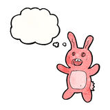 cartoon pink scary rabbit Stock Images