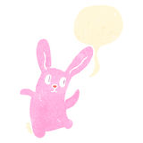 Cartoon pink spooky rabbit Royalty Free Stock Photo
