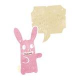 Cartoon pink spooky rabbit Stock Photography