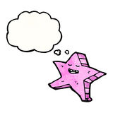 Cartoon pink starfish Stock Image