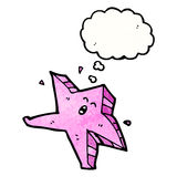 Cartoon pink starfish Royalty Free Stock Photography