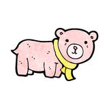 Cartoon pink teddy bear Royalty Free Stock Image