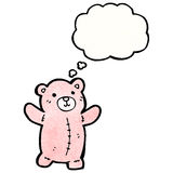 Cartoon pink teddy bear Stock Photography