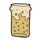 Cartoon pint of beer Stock Photography