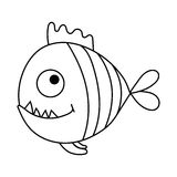 Cartoon piranha Stock Image