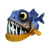 Cartoon of piranha Stock Image