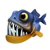 Cartoon of piranha Stock Image
