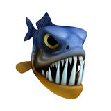 Cartoon of piranha Stock Images