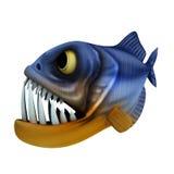 Cartoon of piranha Royalty Free Stock Photo