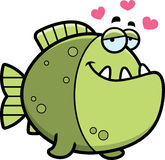 Cartoon Piranha in Love Royalty Free Stock Photo