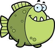 Cartoon Piranha Smiling Stock Image