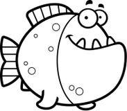 Cartoon Piranha Smiling Stock Photography