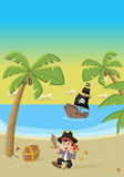 Cartoon pirate boy Royalty Free Stock Image