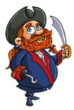 Cartoon pirate captain Stock Photo