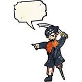Cartoon pirate captain Royalty Free Stock Photography