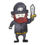 Cartoon pirate captain Royalty Free Stock Image