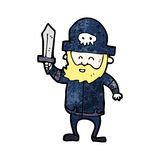 Cartoon pirate captain Royalty Free Stock Images