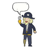Cartoon pirate captain with speech bubble Stock Photography