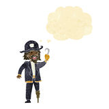Cartoon pirate captain with thought bubble Stock Photography