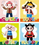 Cartoon pirate card Royalty Free Stock Photos