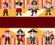 Cartoon pirate card Royalty Free Stock Photography