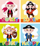 Cartoon pirate card Royalty Free Stock Photos