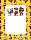 Cartoon pirate card Royalty Free Stock Photo