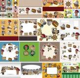 Cartoon pirate card Stock Image