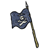 Cartoon pirate flag Stock Images