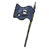 Cartoon pirate flag Royalty Free Stock Images