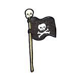 Cartoon pirate flag Stock Photos