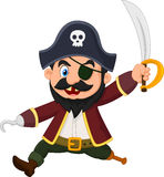 Cartoon pirate holding dagger Stock Image