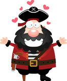 Cartoon Pirate Hug Royalty Free Stock Photos