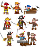 Cartoon pirate icon. Vector drawing Stock Image