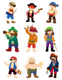 Cartoon pirate icon set Stock Photography