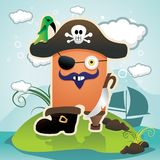 Cartoon pirate  illustration Stock Photography