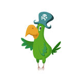 Cartoon pirate parrot Royalty Free Stock Photography