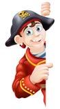 Cartoon pirate pointing Stock Image