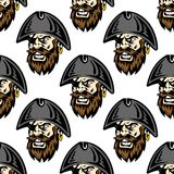 Cartoon pirate seamless pattern background Royalty Free Stock Images
