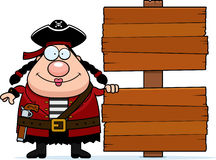 Cartoon Pirate Sign Royalty Free Stock Photography