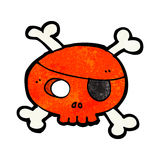 cartoon pirate skull Stock Photography