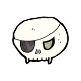 Cartoon pirate skull symbol Stock Photo