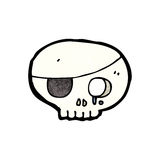Cartoon pirate skull symbol Royalty Free Stock Photography