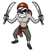 Cartoon Pirate skull Stock Images